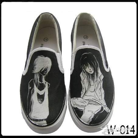 新款手绘帆布鞋